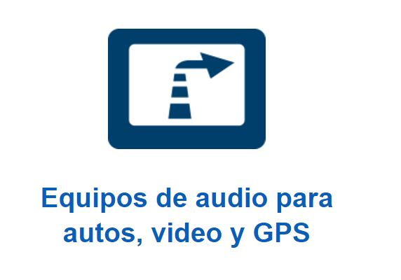equipo de audio para autos, videos y GPS.
