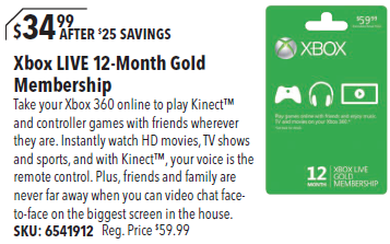 how to buy xbox live gold for a friend