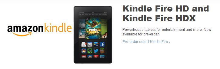 New Kindle Fire HD and Kindle Fire HDX