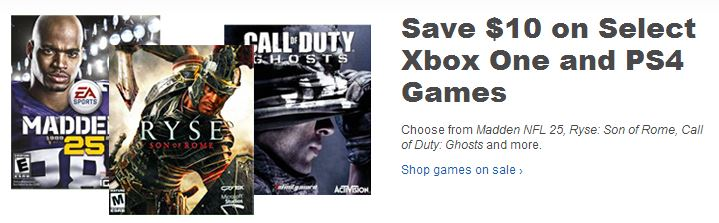 Save $10 on Select Xbox One and PS4 Games - Best Buy Support