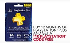Free PSN Code with 12 Months of PlayStation Plus