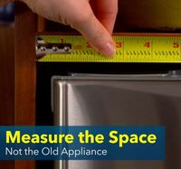 Measure Correctly For Your New Appliance