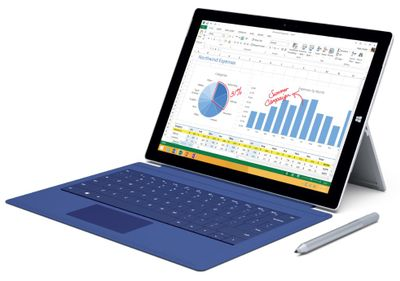 Surface Pro 3 with Best Buy Exclusive Blue Touch Cover