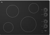 "Whirlpool - 30"" Built-In Electric Cooktop - Black"