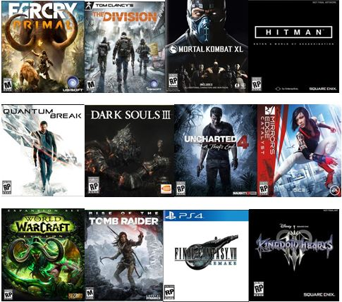 2016 Most Anticipated Games