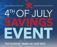 4th of July Savings Event