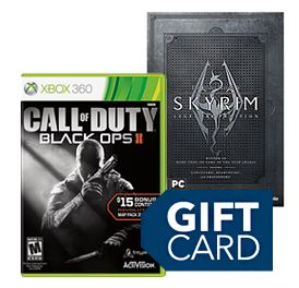Free Gift Card with 2 Games Offer