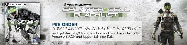 Splinter Cell Blacklist Pre-order Bonus