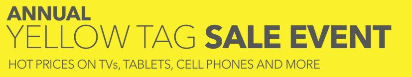 Yellow Tag Sale Event