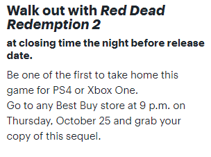 best buy red dead redemption 2 midnight release
