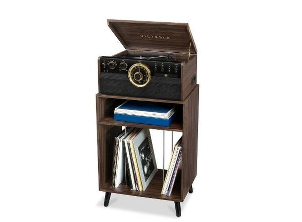 Victrola Espresso Turntable Record Player Stand.JPG