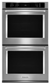 """KitchenAid - 30"""" Built-In Double Electric Convection Wall Oven - Stainless Steel"""
