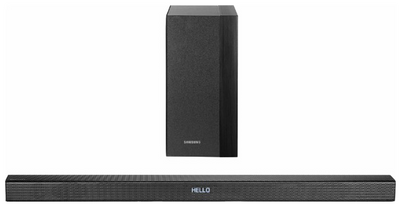 Samsung - 2.1-Channel Soundbar System with Wireless Subwoofer - Black